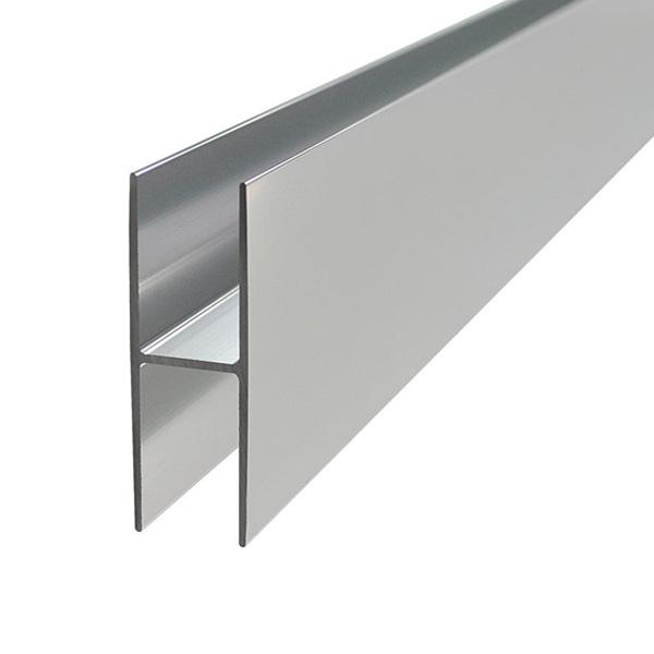 aluminum anodised channel h shape section bar h profile h bar 1 meter ebay. Black Bedroom Furniture Sets. Home Design Ideas