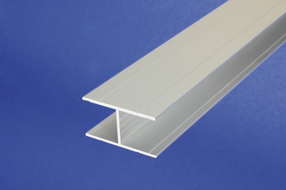 1 M Aluminum Anodised Channel H Shape Section Grooved Bar