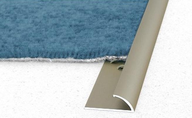 Anodised Aluminium Single Edge Carpet Cover Strip Door